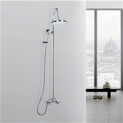 Odele Wall Mount Shower Set in Chrome Finish
