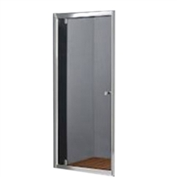 Glass Shower Enclosure | Satin Aluminum Frame