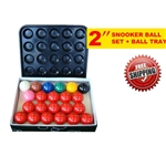NEW! STANDARD 2'' BILLIARD SNOOKER BALL SET WITH BALL TRAY SALE!!!