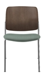 Allseating Astute Wood Side Chair with Upholstered Seat