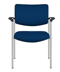 Allseating Twist Side Upholstered Back Side Chair