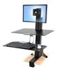 Ergotron WorkFit-S, Single LD with Worksurface+