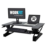 Ergotron WorkFit-T Sit-Stand Desk Workstation, White