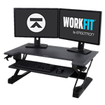 Ergotron WorkFit-TL Standing Desk Workstation, Black