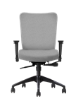 Allseating Inertia Mid-Back Task Chair, Upholstered Back and Seat