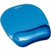 Fellowes Gel Mouse Pad/Wrist Rest, Crystals Blue