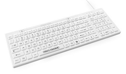 Man & Machine D Cool Keyboard, Hygienic White