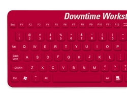 Man & Machine E Cool Downtime Workstation Keyboard, Red