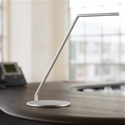 Workrite Ergonomics Fundamentals 2 LED Desk Light, Single Arm, Desk Base