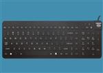 Man & Machine Really Cool Low Profile Keyboard with MagFix & Backlight, Black