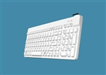 Man & Machine Really Cool Low Profile Keyboard with MagFix, Hygienic White