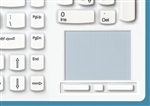 Man & Machine Really Cool Touch Low Profile Keyboard, Hygienic White