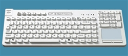 Man & Machine Really Cool Touch LP Keyboard w/MagFix & Backlight, Hygienic White  Lifetime Warranty