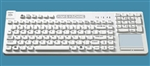 Man & Machine Really Cool Touch Low Profile Keyboard w/MagFix, Hygienic White