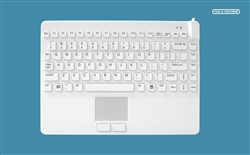 Man & Machine Slim Cool LP (Low Profile) + with Touchpad & Backlight, Hygienic White, Limited Lifetime Warranty