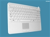 Man & Machine Slim Cool + LP (Low Profile) Keyboard, Hygienic White