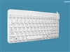Man & Machine Slim Cool LP (Low Profile) Keyboard, Hygienic White