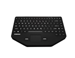 Man & Machine So Cool Public Safety Keyboard, Black w/Touchpad and Red Backlight