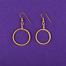 Gold Plated Sterling Silver Light-Life Earrings - Small