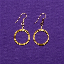 Gold Plated Sterling Silver Light-Life Amity Earrings - Small