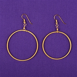 24K Gold Plated Light-Life Sterling Silver Earrings - Large