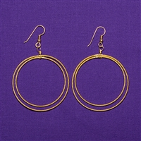 24K Gold Plated Light-Life Sterling Silver Amity Earrings - Large