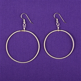 Sterling Silver Light-Life Earrings - Large