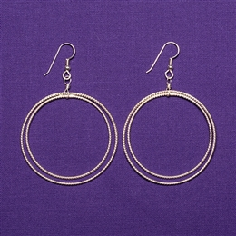 Sterling Silver Amity Earrings - Large