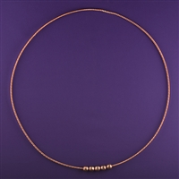 Lost Cubit heavy Light-Life Tensor Ring - 3 1/2 Cubit, copper, 5 beads | Light-Life Technology