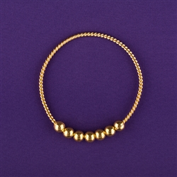 Empowerment Cubit Light-Life Tensor Ring - 1/2 Cubit, 24K gold plated, 7 beads | Light-Life Technology