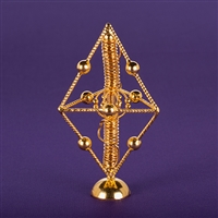 Pyramid Unit with Sacred Cubit Personal Harmonizer - 24K Gold Plated