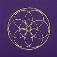 Seed Of Life - 1 Lost Cubit, 24K Silver Plated