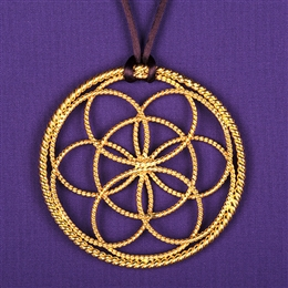 Sacred Cubit Light-Life Lotus Pendant - 1/2 Cubit, 24K Gold Plated