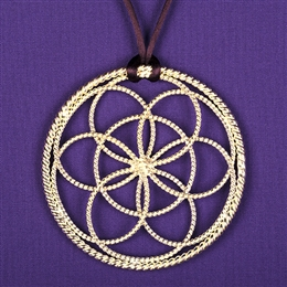 Sacred Cubit Lotus Pendant - 1/2 Cubit, silver plated | Light-Life Technology