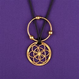 Sacred Cubit Lotus Pendant - 1/4 Cubit, 24K gold plated, lacquered | Light-Life Technology