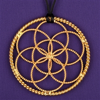 Lost Cubit Lotus Pendant - 1/2 Cubit, 24K gold plated | Light-Life Technology