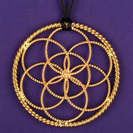 Lost Cubit Light-Life Lotus Pendant - 1/2 Cubit, 24K Gold Plated