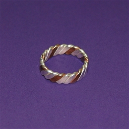 Evolved Venus Finger Ring - Copper and Silver