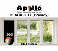 PRIVACY FILM 100 % BLACKOUT 60in 100ft
