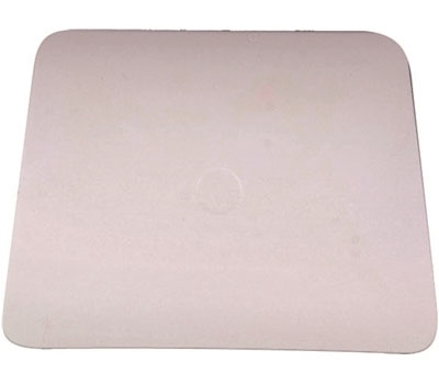 4in TEFLON HARD CARD SQUEEGEE -WHITE-