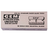 GEM STAINLESS STEEL 1in SINGLE EDGE  -100pk