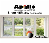 15% SLEEK SILVER APPEARANCE FILM 60in 100ft