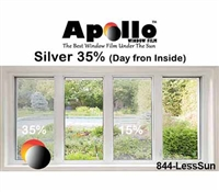 35% SLEEK SILVER APPEARANCE FILM 60in 100ft