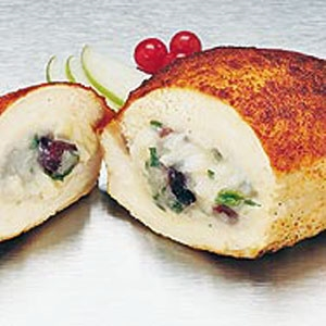 Apple, Cranberry, Brie Stuffed Chicken