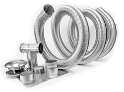 Single ply 3 inch Chimney Liner Kit