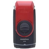 Braun Shaver M60 Red Portable Cordless (81560904)