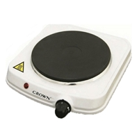 Crown CHP-102W Hotplate-Stove 1*Hob 1500W White