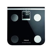 Finlux FBS-71250 Personal Weighing Scales Glass Black/Silver 2.0-150kg