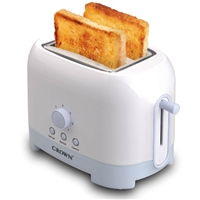 Crown CT-720BW Toaster 2*Slice 700W Thermostat White