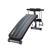 Crown SUB-505BR Fitness-Lounger + Stretching-Ropes Black